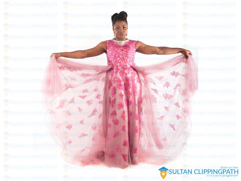 Black woman portrait weeding retouch sultan clipping path Service